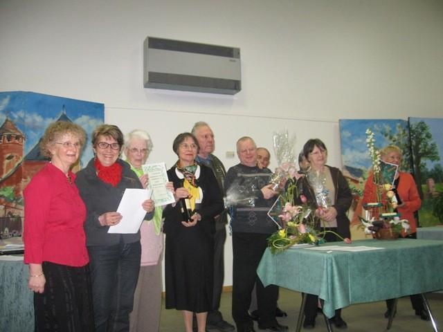 Parmi les lauréats, les gagnantes des séjours VVF : Chantal Lafrance et Josiane Gautier