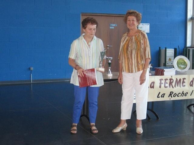 Michèle Duclosson gagnante des P.O. et Monique Dubourdeau