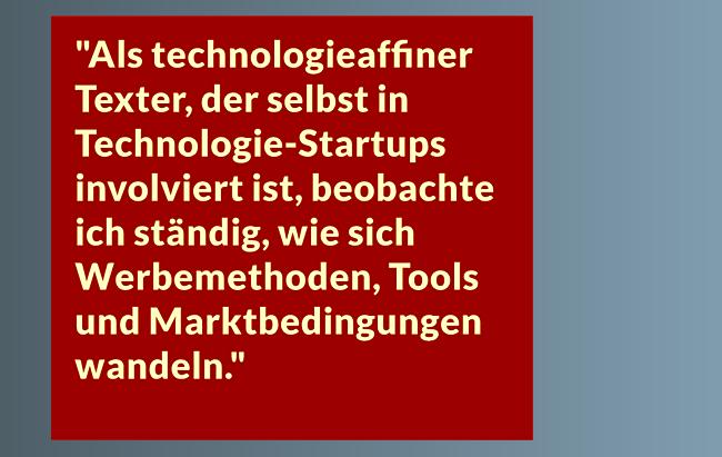 Erfahrener Werbetexter Frankfurt für Technologie Finanzen Dienstleistungen Handel