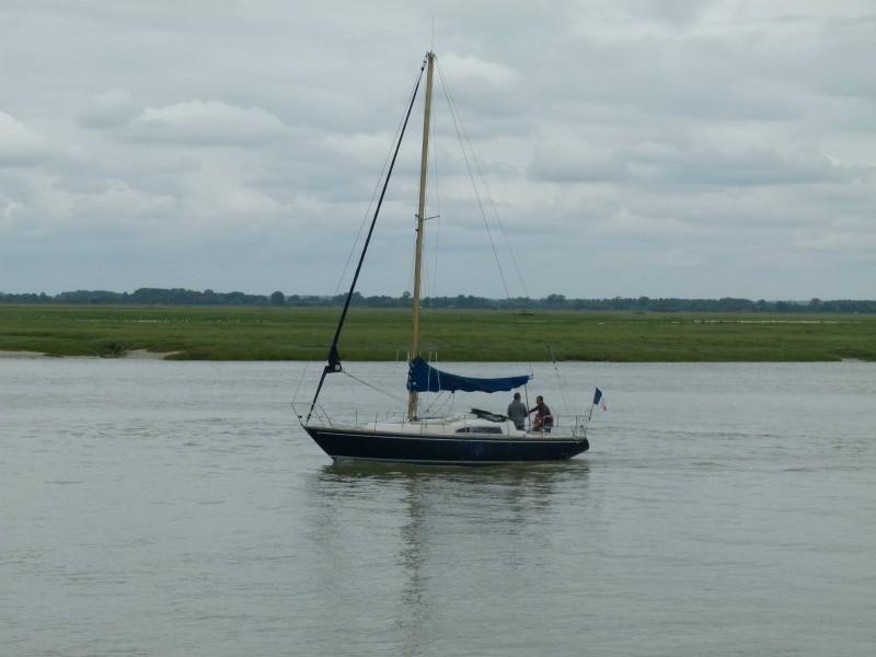 un voilier sur la Baie de Somme