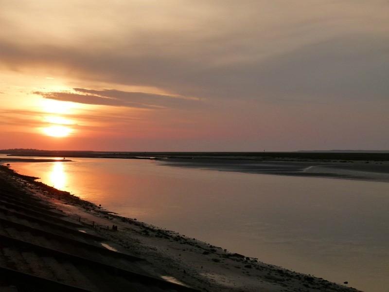 Un coucher de soleil sur la Baie de Somme