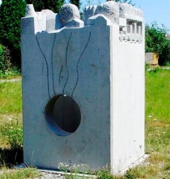 Bergkamen, Beton, 2005, 140 cm x 250 cm, Arbeit für den Lippeverband.