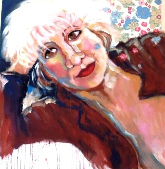 Porträts - vor allem von Frauen, und auch sich selbst - sind eine Spezialität der Künstlerin aus Barcelona, die seit Jahrzehnten in Waltrop lebt.