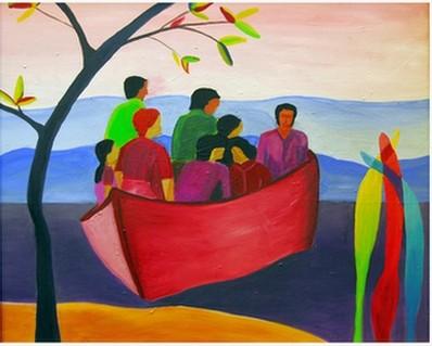 Bild:Leute im Boot