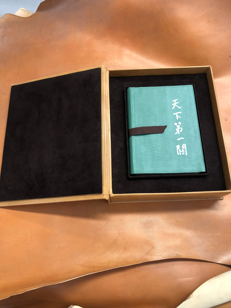 Leather box for present by Conti Borbone