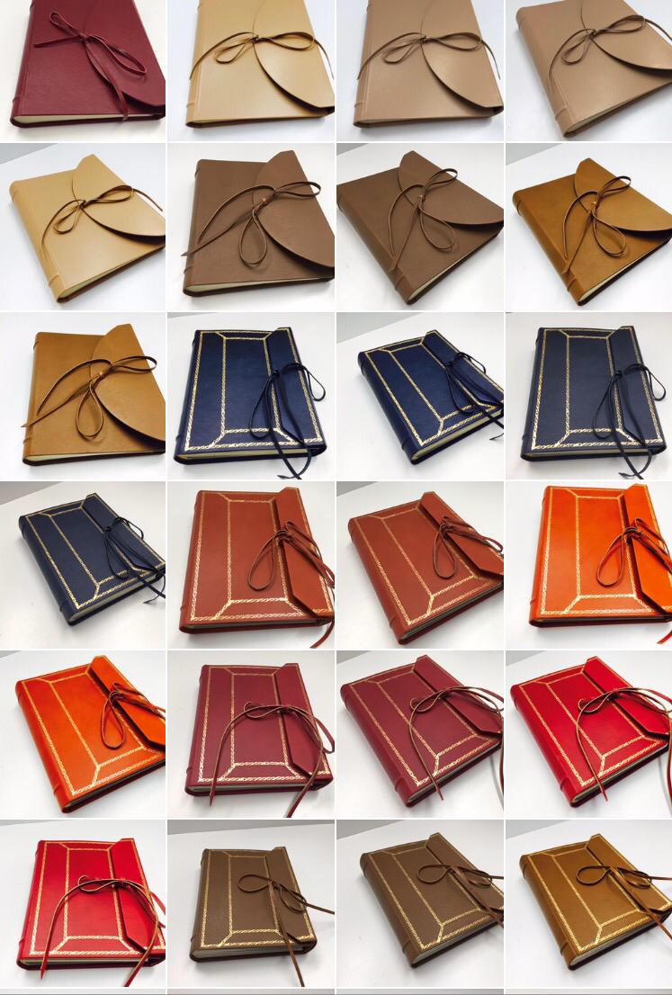Leather photo album series