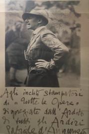 History - Conti Borbone - Dedication Gabriele D'Annunzio to Conti Borbone
