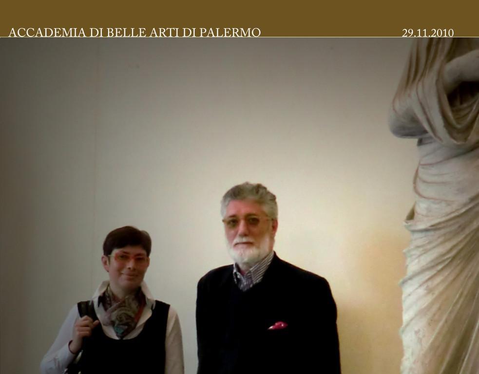 Prof. Sergio Pausig con la Dott.ssa Raffaella Sgubin 29 .12. 2010