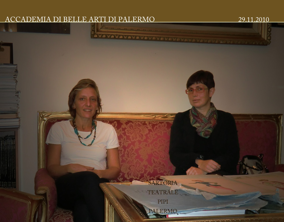 Prof.ssa Francesca Pipi con la Dott.ssa Raffaella Sgubin 29 .12. 2010