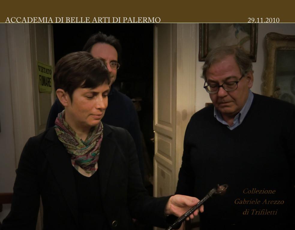 Prof. Gabriele Arezzo Di Trifiletti con la Dott.ssa Raffaella Sgubin 03 .12. 2010