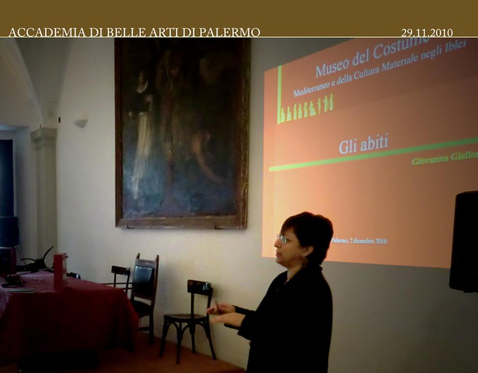 Lectio Magistralis Dott.ssa Giovanna Giallongo Sala S.Barbara Convento di San Domenico 03.12.2010