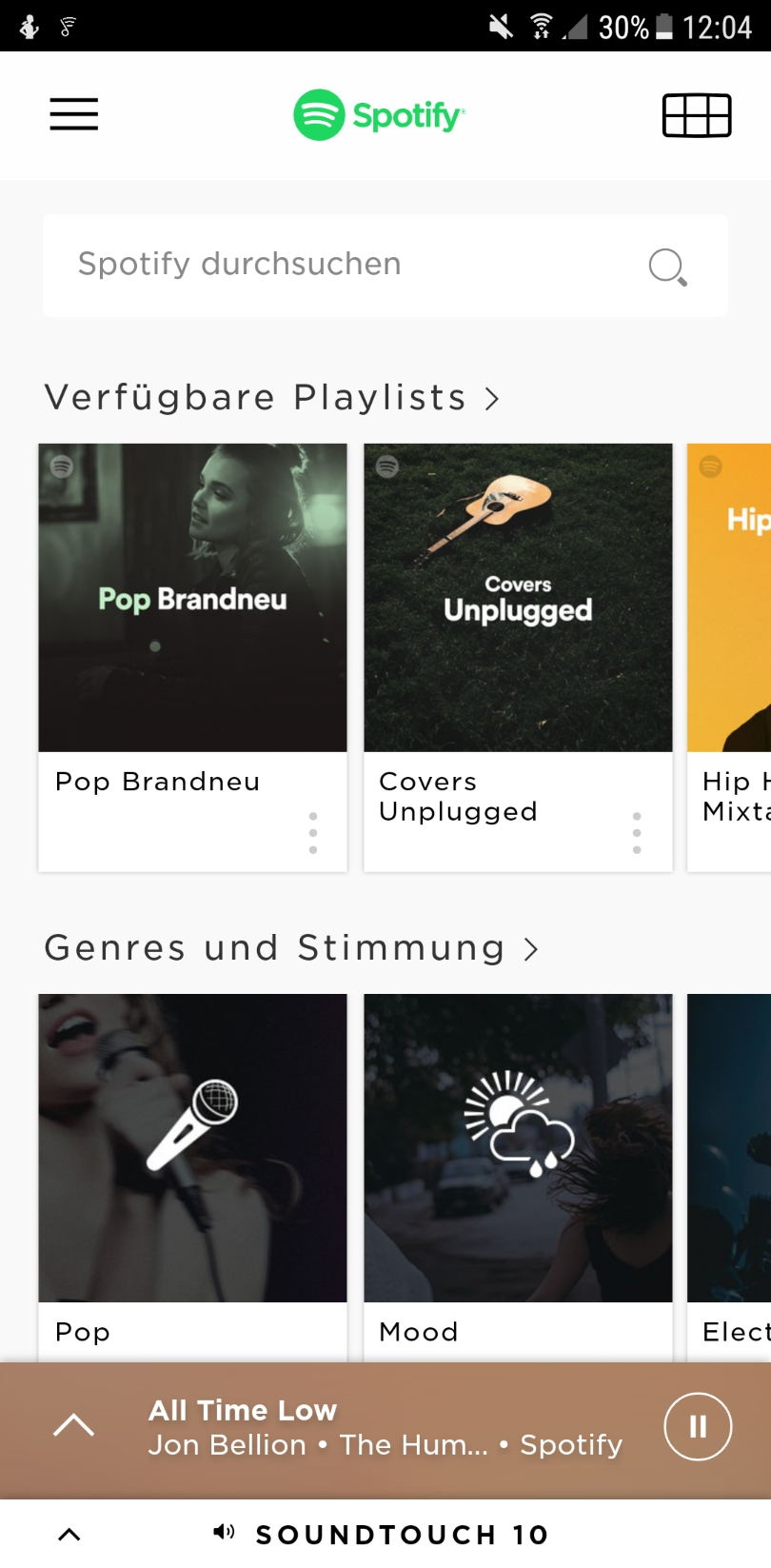 Spotify in der Soundtouch App