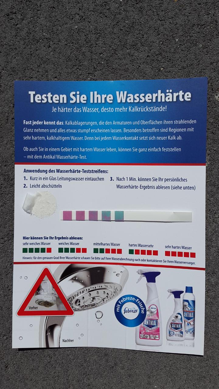 Wasserhärte - Teststreifen