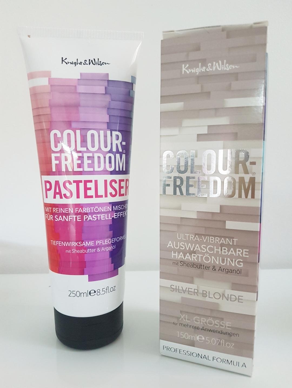 Colour Freedom Pasteliser und Ultra Vibrant Auswaschbare Tönung Silver Blonde