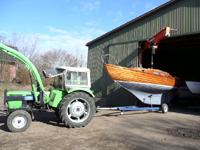Drehsäulenkran mit 3,2 t Bootsbau Sager