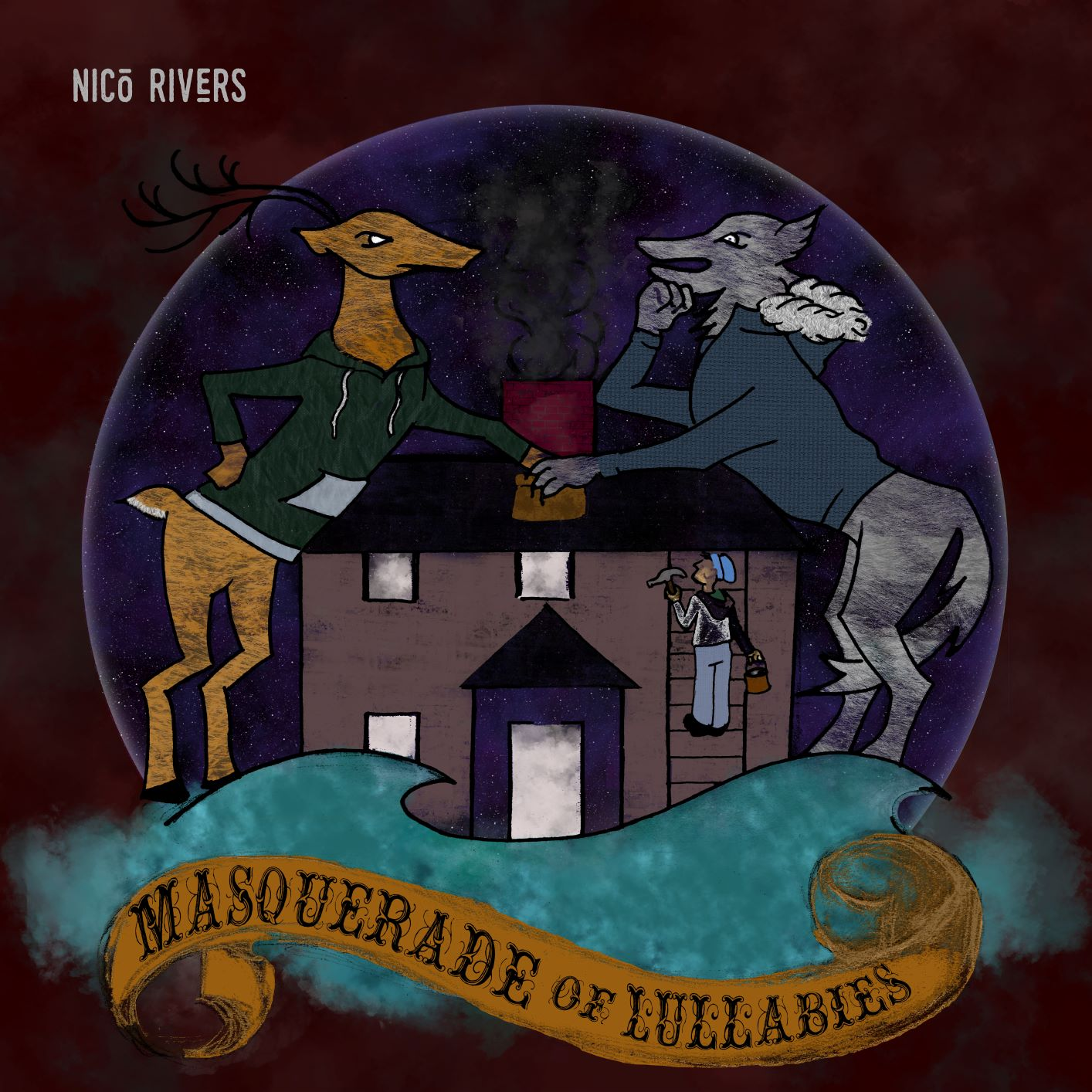 """""""EVEN HOLDING"""", first single of the album """"Masquerade of Lullabies"""" by Nico Rivers (US) release on Friday, 30.07.2021"""
