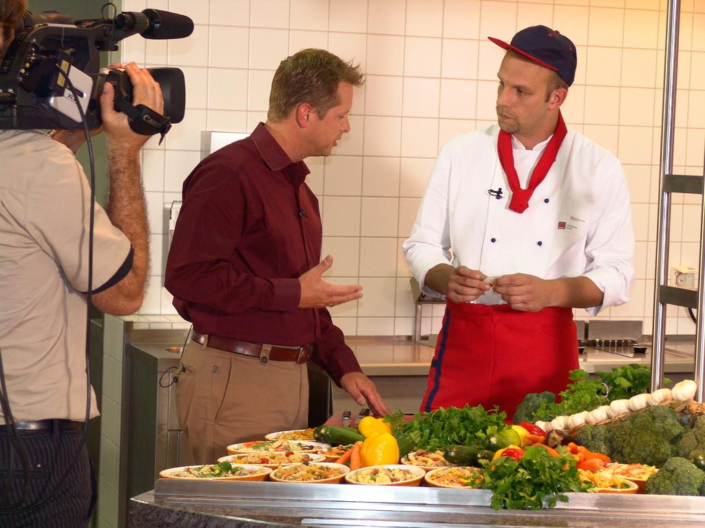 """Sendung """"Kochen & Co"""" für Bahn TV"""