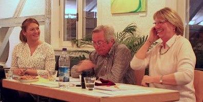 Lena Reichl mit Ehepaar Mücke