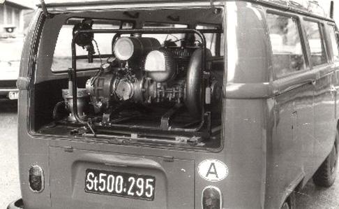 Kleinlöschfahrzeug mit Tragkraftspritze