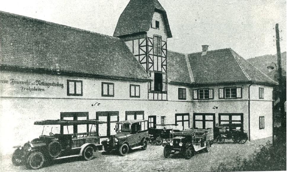 Rüsthaus und Fuhrpark 1931