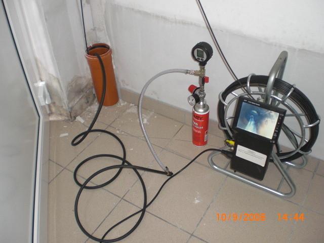 Inspektion im Abwassersytem inkl. Druckprüfung