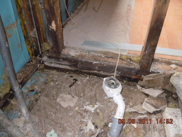 Leitungswasserschaden (Defekte Siliconverfugung)