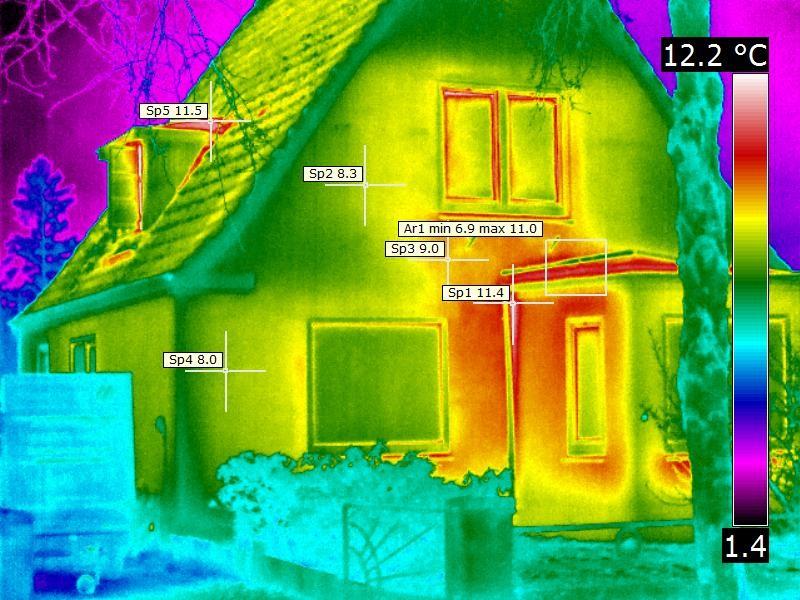 Ortung von thermischen Schwachstellen an der Gebäudehülle