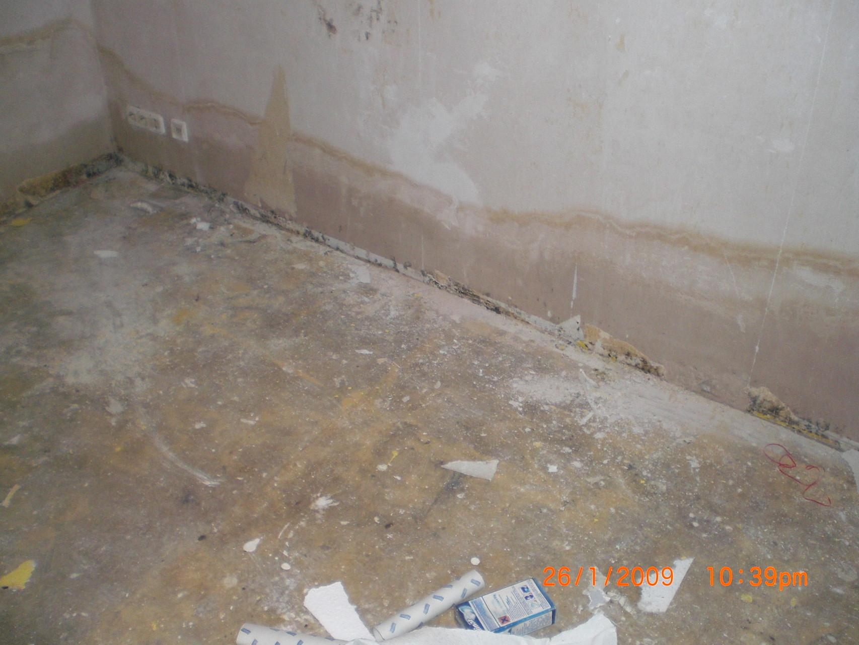Abwasserschaden im Keller