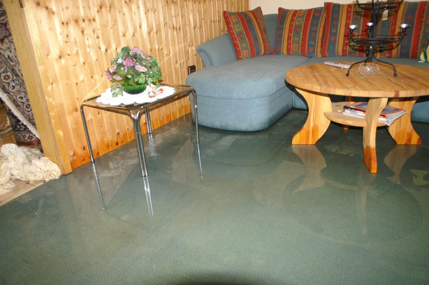 Überflutung im Gebäude
