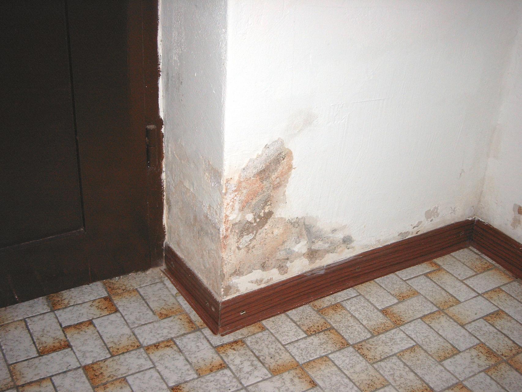 Bauschädliche Salze durch defekte Entwässerung