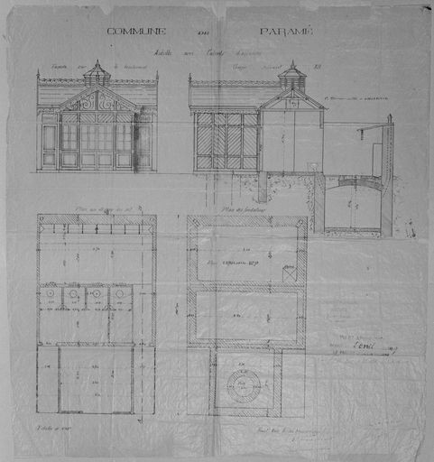 Plan de l'abri installé à Paramé.