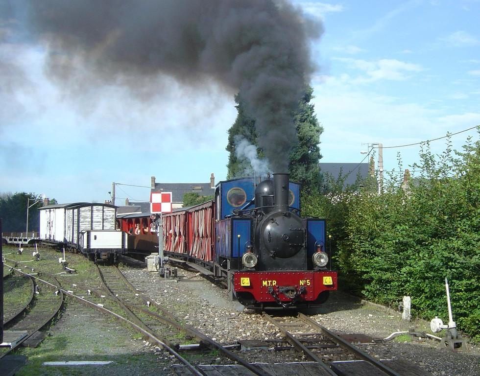 La locomotive n°4, renumérotée 3-5, au musée de Pothiviers. ©AMTP.