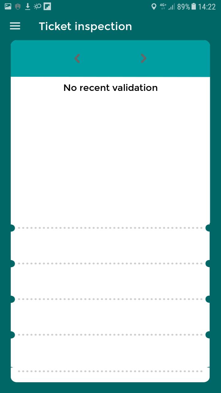 Écran permettant d'afficher l'ensemble des titres de transport en cours de validité sur le compte de l'utilisateur.