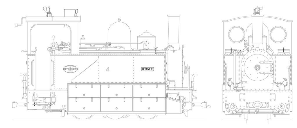 Plan de la locomotive n°4 réalisé par un membre du forum LR Presse. Tous droits réservés.