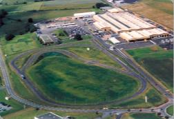 Le site de Rorthais, avec les usines et la piste d'essais. ©HeuliezBus