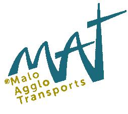 Le logo du réseau MAT - Malo Agglo Transports - qui sera officiellement dévoilé le 1er juin 2018.