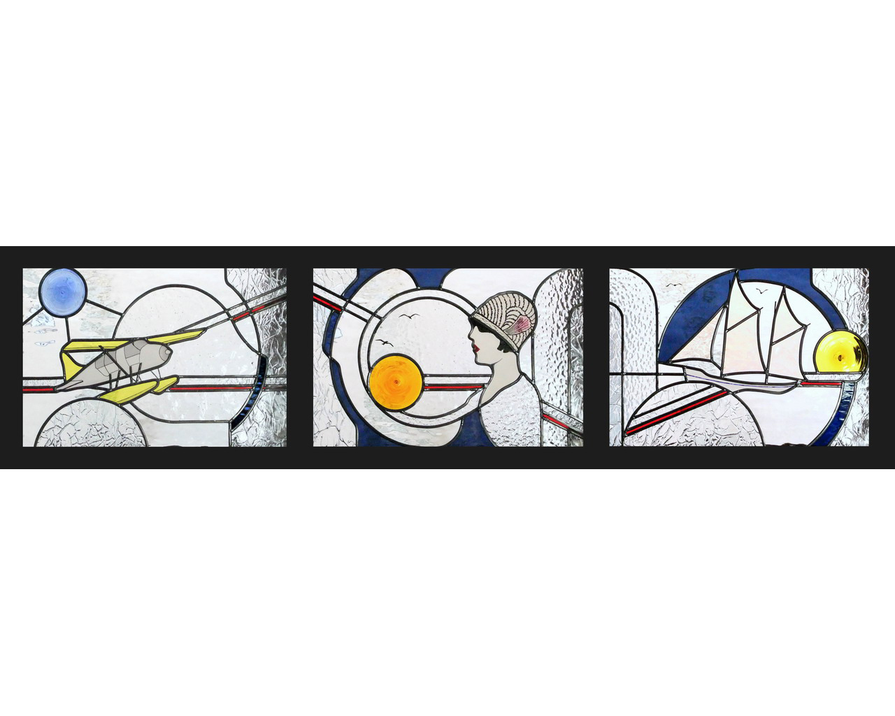 La Mer - Art Déco  -  3X 50X33 cm