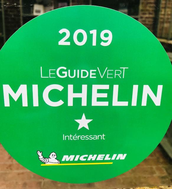 1ère étoile au Guide vert Tourisme Michelin