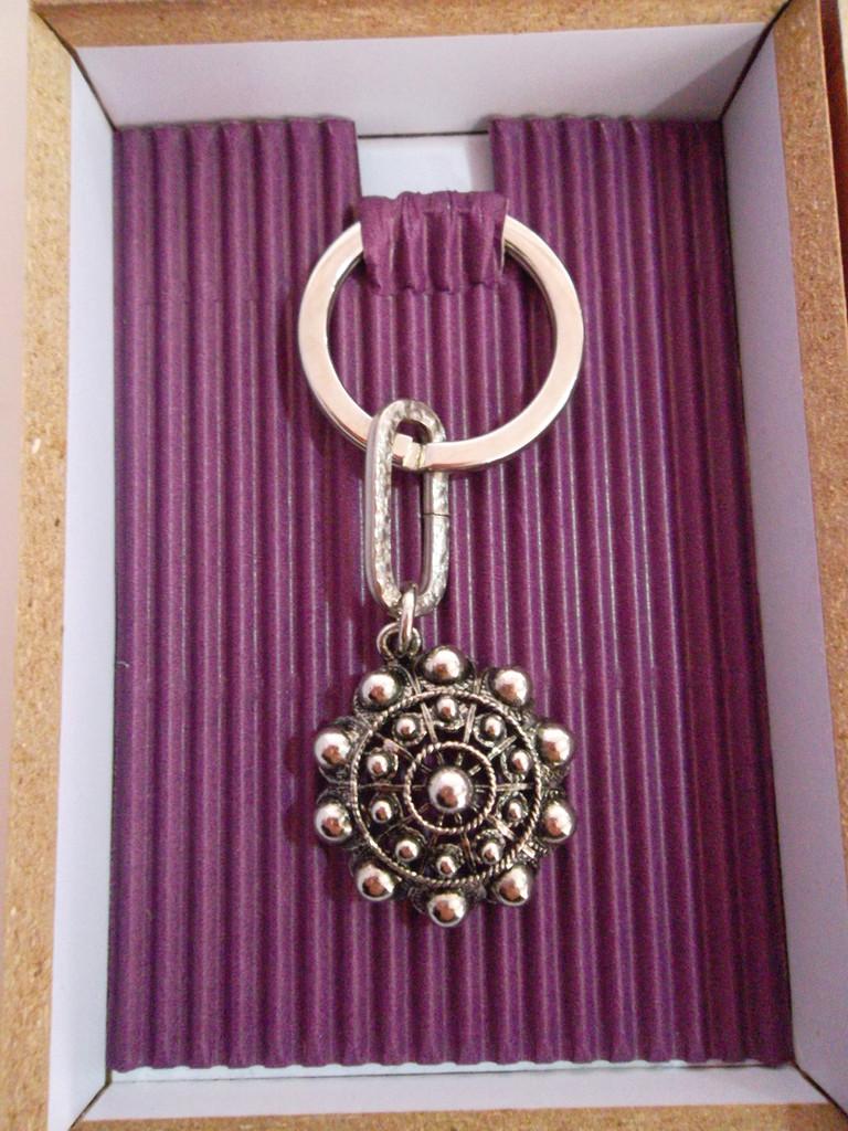 Llavero boda Botón Charro 2,50cm/diámetro