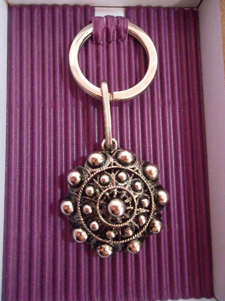 Llavero boda Botón charro 3,30cm/diámetro