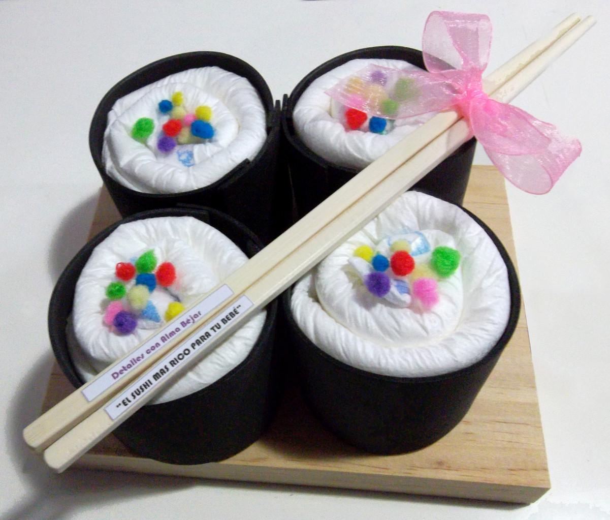 Sushi de pañales (8 pañales)10€