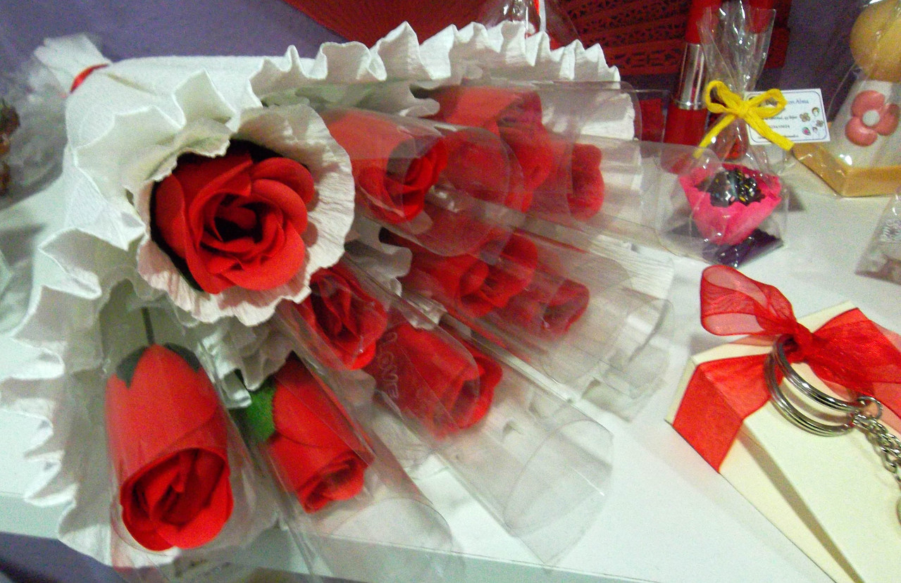 Ramo de rosas de jabón