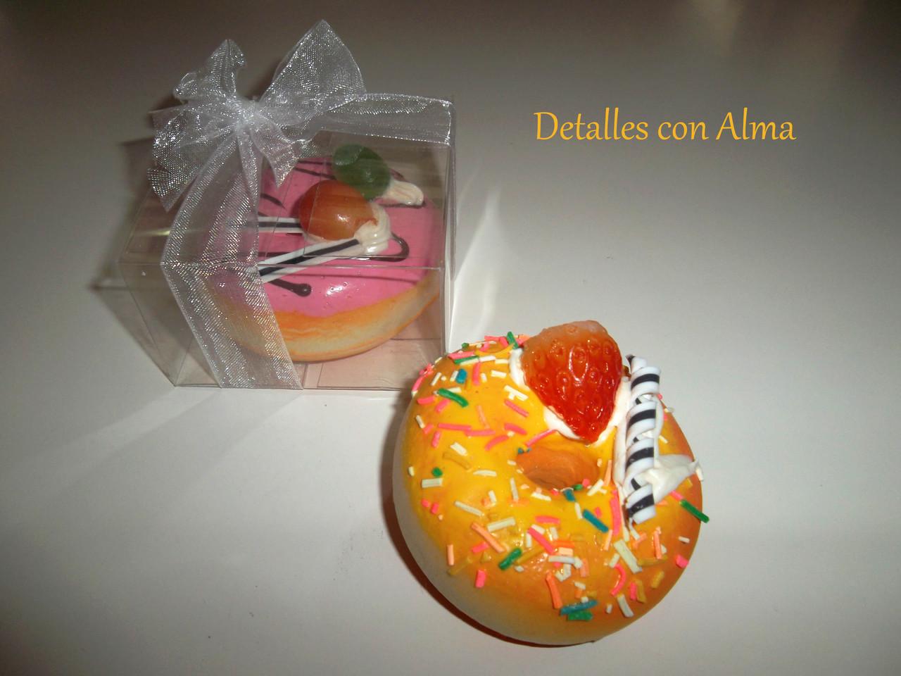 Imán de nevera donut