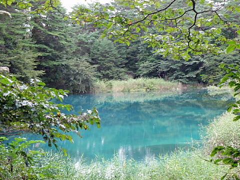 五色沼は沼が変わる都度に色が変わります。