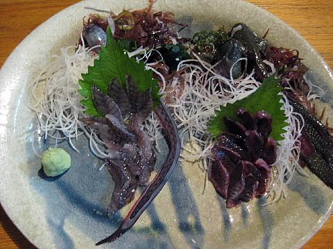 ムツゴロウとワラスボの刺身