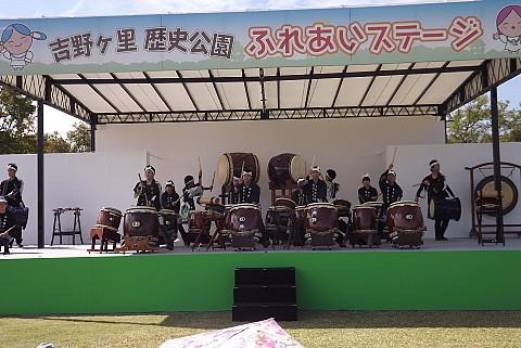 吉野が里も太鼓の競演