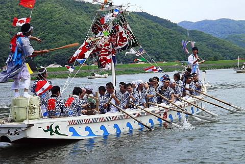 桜江から今回初めて参加した櫂揃え船