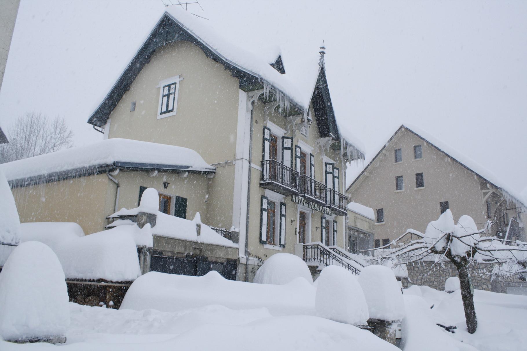 sous la neige en février 2015
