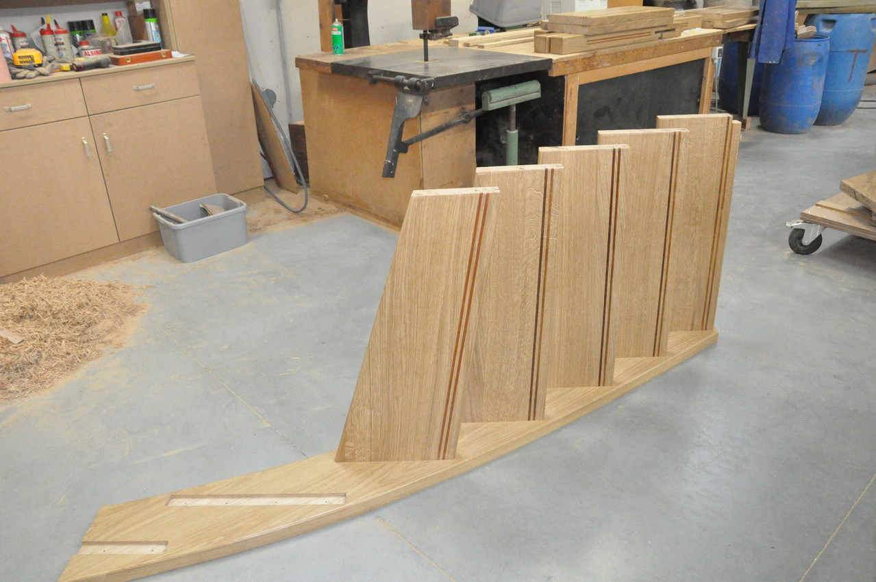 escalier en chêne avec liseret en merbeau