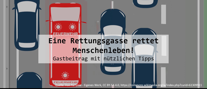 Eine Rettungsgasse rettet Menschenleben! Gastbeitrag zu diesem Thema von bussgeldkatalog.net
